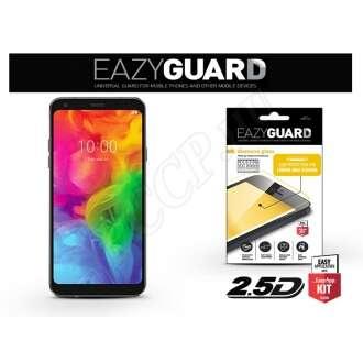 LG Q7 Plus fekete üveg kijelzővédő fólia
