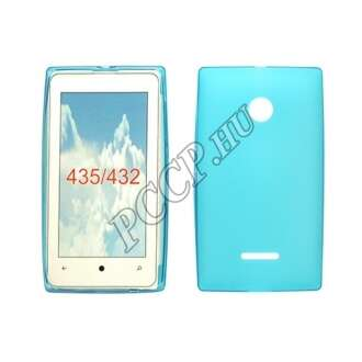 Microsoft Lumia 550 kék vékony szilikon hátlap