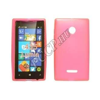 Microsoft Lumia 550 pink vékony szilikon hátlap