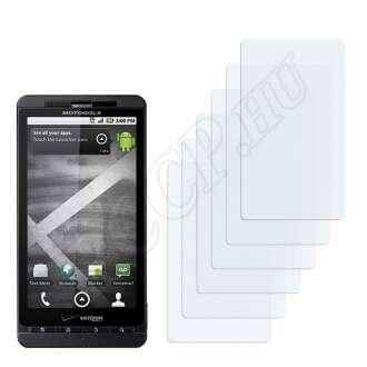 Motorola Droid X kijelzővédő fólia