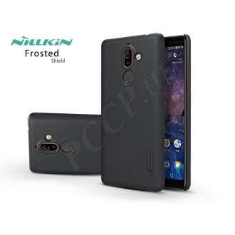 Nokia 7 Plus (2018) fekete hátlap kijelzővédő fóliával