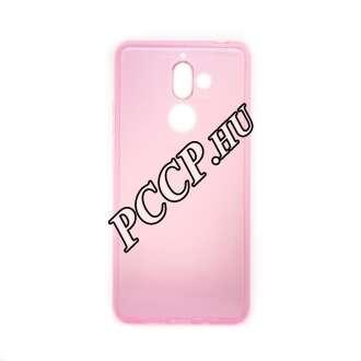 Nokia 7 Plus pink vékony szilikon hátlap