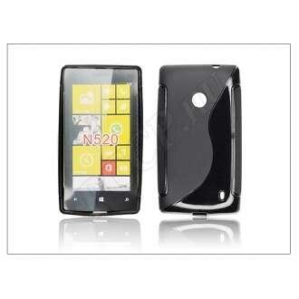 Nokia Lumia 520 fekete szilikon hátlap