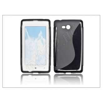 Nokia Lumia 720 fekete szilikon hátlap