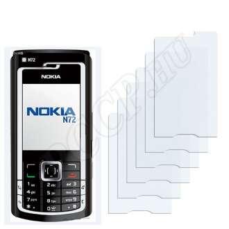 Nokia n72 kijelzővédő fólia