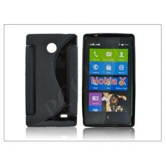 Nokia X fekete szilikon hátlap