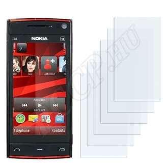 Nokia X6-00 kijelzővédő fólia