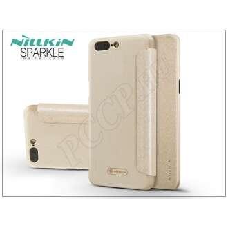 Oneplus 5 (A5000) arany oldalra nyíló flip tok