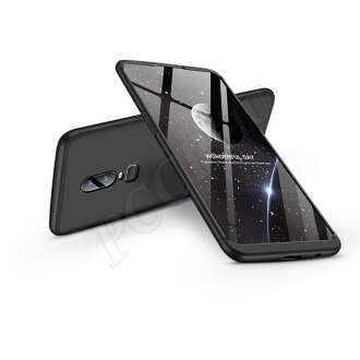 Oneplus 6 (A6000) fekete három részből álló védőtok