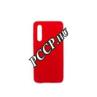 Samsung A20E piros prémium szilikon hátlap