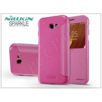 Samsung Galaxy A3 (2017) pink oldalra nyíló flip tok