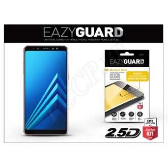 Samsung Galaxy A8 Plus (2018) gyémántüveg kijelzővédő fólia fekete színben