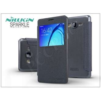 Samsung Galaxy On7 fekete oldalra nyíló flip tok