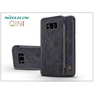 Samsung Galaxy S8 Plus fekete oldalra nyíló flip tok
