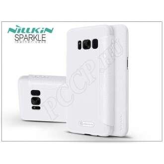 Samsung Galaxy S8 Plus fehér oldalra nyíló flip tok