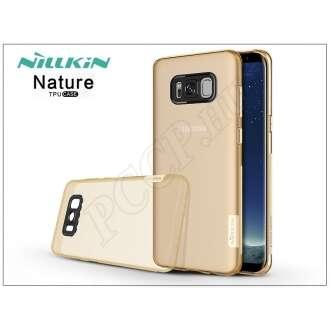 Samsung Galaxy S8 Plus aranybarna szilikon hátlap