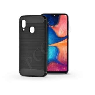 Samsung Galaxy A20E fekete szilikon hátlap