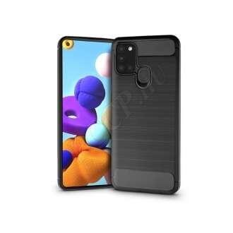 Samsung Galaxy A21S fekete szilikon hátlap