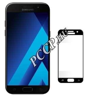 Samsung Galaxy A5 (2017) fekete teljes kijelzős üveg kijelzővédő fólia