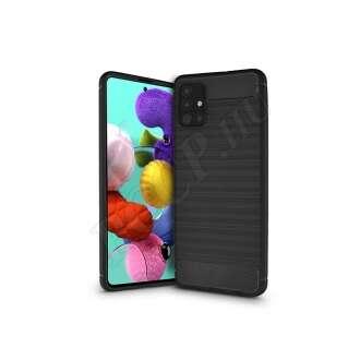 Samsung Galaxy A51 fekete szilikon hátlap