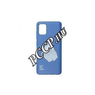 Samsung Galaxy A51 jéghegy mintás kék színű BIO környezetbarát hátlap