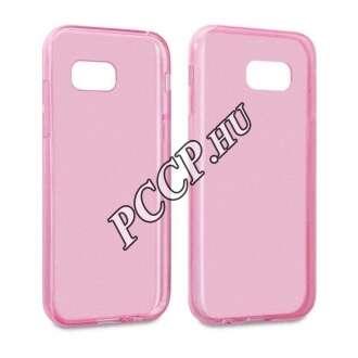 Samsung Galaxy A5 (2017) pink vékony szilikon hátlap