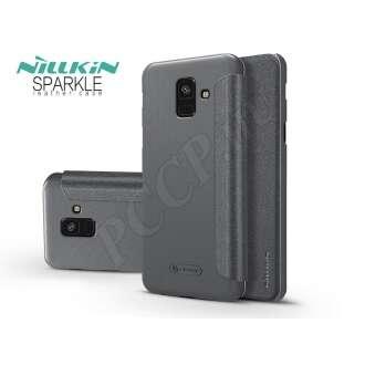 Samsung Galaxy A6 (2018) fekete oldalra nyíló tok