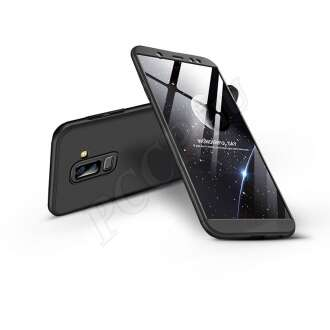 Samsung Galaxy A6 Plus (2018) fekete három részből álló védőtok