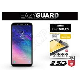 Samsung Galaxy A6 Plus (2018) fekete üveg kijelzővédő fólia