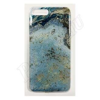Samsung Galaxy A7 (2018) kék márványos szilikon hátlap