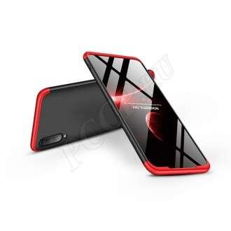 Samsung Galaxy A70 fekete/piros három részből álló védőtok