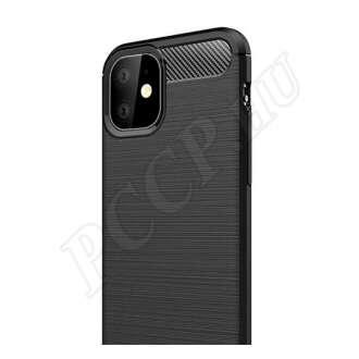 Samsung Galaxy A8 (2018) matt fekete szilikon hátlap