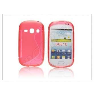 Samsung Galaxy Fame piros szilikon hátlap