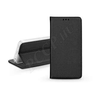 Samsung Galaxy J6 (2018) fekete bőr flip tok