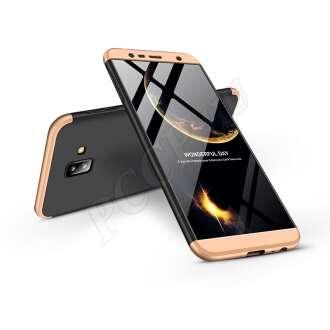 Samsung Galaxy J6 Plus (2018) fekete/arany három részből álló védőtok