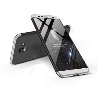 Samsung Galaxy J6 Plus (2018) fekete/ezüst három részből álló védőtok