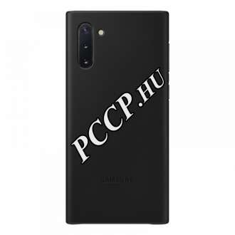 Samsung Galaxy Note 10 fekete bőr hátlap