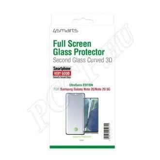 Samsung Galaxy Note 20 fekete teljes kijelzős üveg kijelzővédő fólia