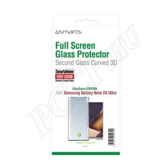 Samsung Galaxy Note 20 Ultra üveg kijelzővédő fólia fekete színben