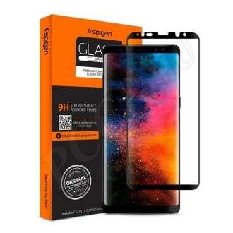 Samsung Galaxy Note 8 hajlított kijelzővédő fólia fekete színben