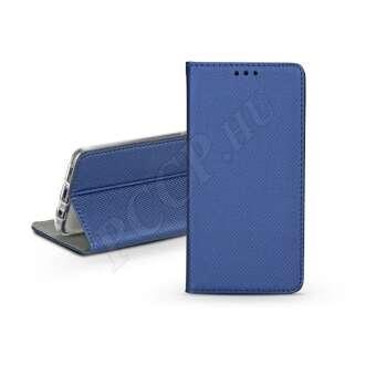 Samsung Galaxy S10 kék bőr flip tok