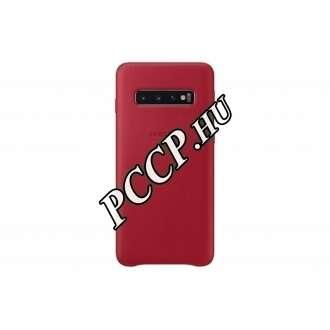 Samsung Galaxy S10 piros bőr hátlap
