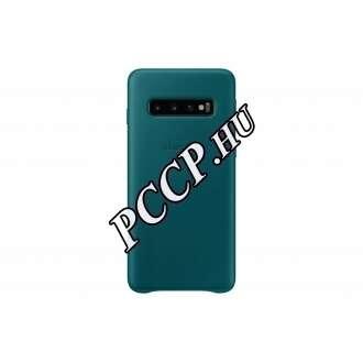 Samsung Galaxy S10 zöld bőr hátlap