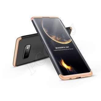 Samsung Galaxy S10E fekete/arany három részből álló védőtok