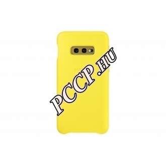 Samsung Galaxy S10E sárga bőr hátlap