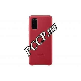 Samsung Galaxy S20 piros bőr hátlap