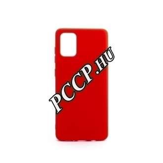 Samsung Galaxy S20 piros szilikon hátlap