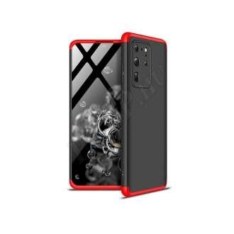 Samsung Galaxy S20 Ultra fekete/piros három részből álló védőtok