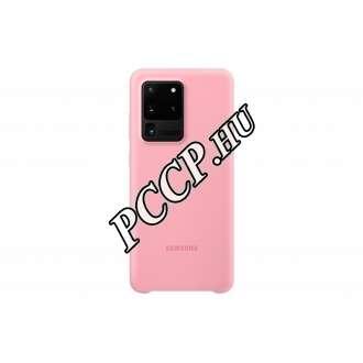 Samsung Galaxy S20 Ultra pink szilikon hátlap