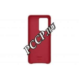 Samsung Galaxy S20 Ultra piros bőr hátlap
